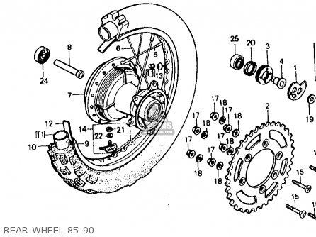 Honda Xr600r 1985 f Usa Rear Wheel 85-90