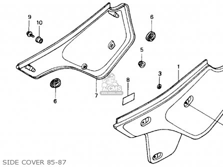 Honda Xr600r 1985 f Usa Side Cover 85-87