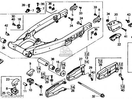 Honda Xr600r 1985 f Usa Swingarm