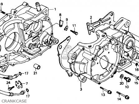Honda Xr600r 1985 Usa Crankcase