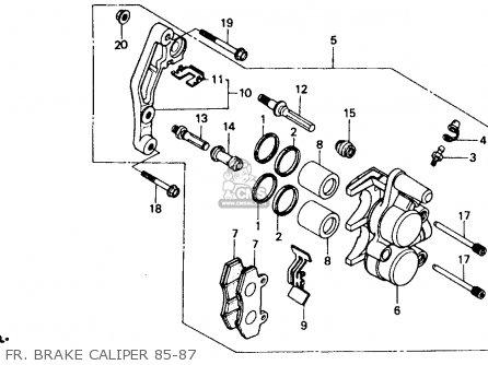 Honda Xr600r 1985 Usa Fr  Brake Caliper 85-87