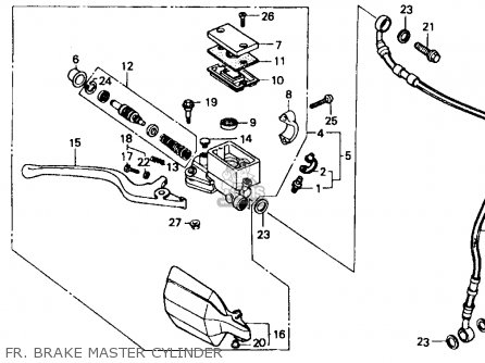 Honda Xr600r 1985 Usa Fr  Brake Master Cylinder