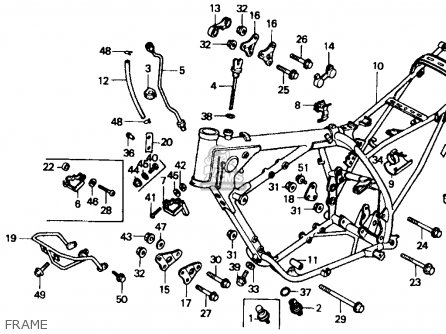 Honda Xr600r 1985 Usa Frame