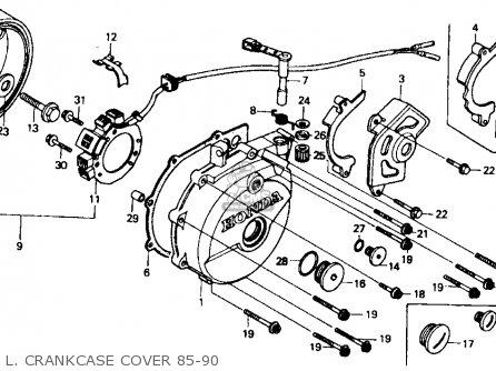 Honda Xr600r 1985 Usa L  Crankcase Cover 85-90