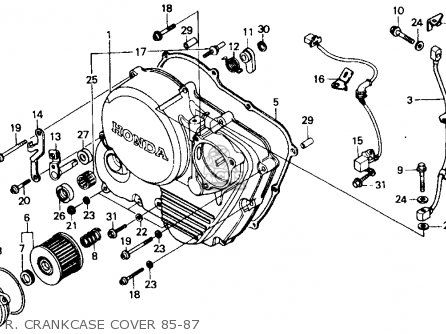 Honda Xr600r 1985 Usa R  Crankcase Cover 85-87