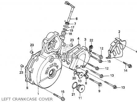 honda xr650l 1993 (p) usa parts list partsmanual partsfiche xr650l engine diagram