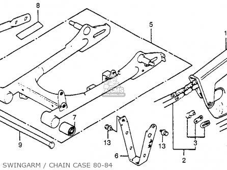 Honda XR80 1983 (D) USA parts lists and schematics