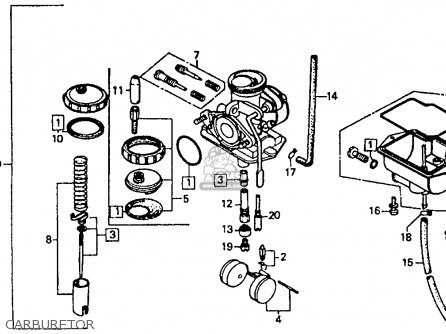 Honda    XR80R 1985  F  USA parts lists and schematics
