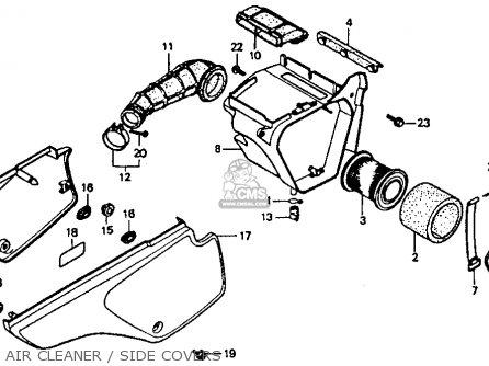 Honda    XR80R 1986  G  USA parts lists and schematics