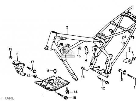 Honda    Xr80r 1986  g  Usa parts list partsmanual partsfiche