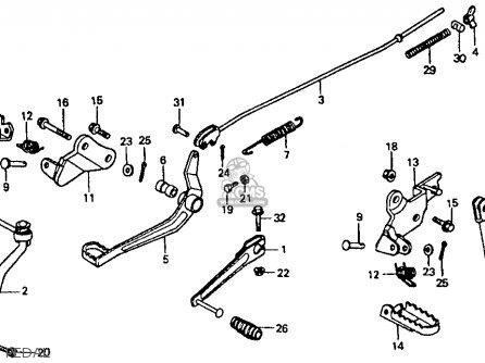 Honda    XR80R 1993  P  USA parts lists and schematics
