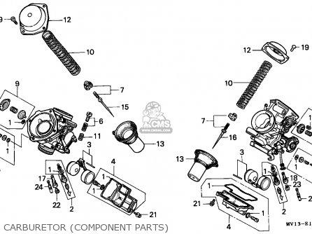 Honda Xrv750 Africa Twin 1990 Italy Carburetor component Parts