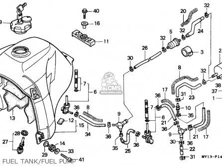 Honda Xrv750 Africa Twin 1990 Italy Fuel Tank fuel Pump