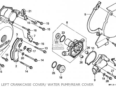 Honda Xrv750 Africa Twin 1990 Italy Left Crankcase Cover  Water Pump rear Cover