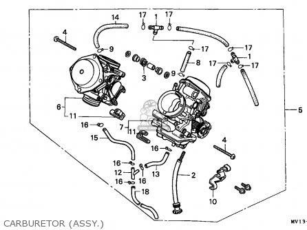 Honda Xrv750 Africa Twin 1990 l Italy Carburetor assy