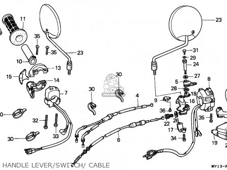 Honda Xrv750 Africa Twin 1990 l Italy Handle Lever switch  Cable