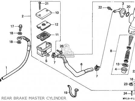 Honda Xrv750 Africa Twin 1990 l Italy Rear Brake Master Cylinder