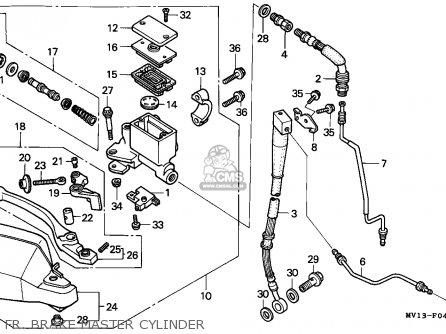 Honda Xrv750 Africa Twin 1992 n Germany Fr  Brake Master Cylinder
