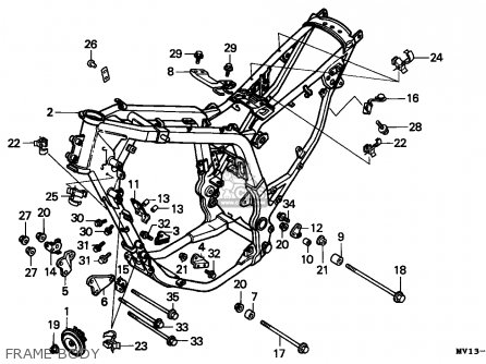 honda vfr 750 engine diagram