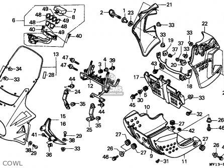 Honda Xrv750 Africa Twin 1992 (n) Spain parts list partsmanual partsfiche