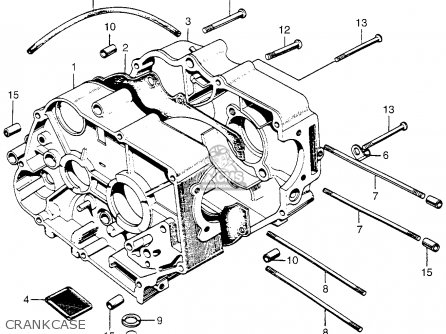 Honda Z50a Mini Trail K1 Usa Crankcase