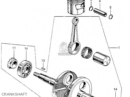 Honda Z50a Mini Trail K1 Usa Crankshaft