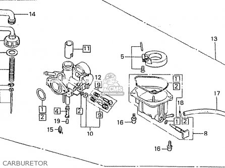 1967 Honda 50 Carburetor Diagram