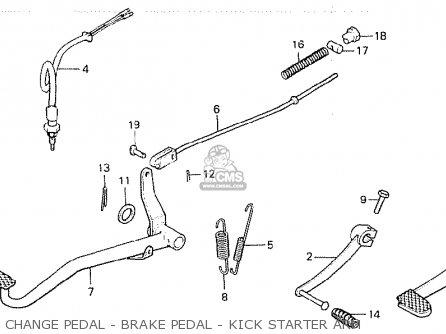 Honda Z50jd Monkey finland Change Pedal - Brake Pedal - Kick Starter Arm
