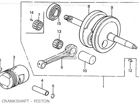 Honda Z50jd Monkey finland Crankshaft - Piston