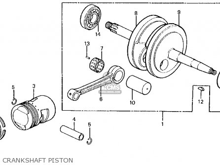 Honda Z50r 1979 Usa Crankshaft Piston