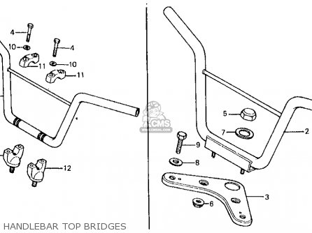 Honda Z50r 1979 Usa Handlebar Top Bridges