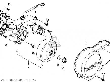 Honda Z50r 1991 m Usa Alternator - 88-93