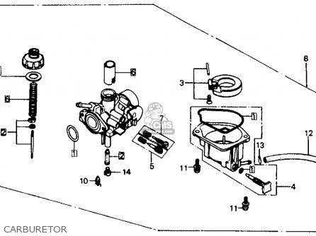 Honda Z50r 1991 m Usa Carburetor