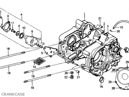 Honda Z50r 1991 m Usa Crankcase