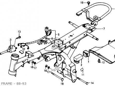 Honda Z50r 1991 m Usa Frame - 88-93