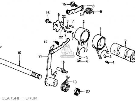 Honda Z50r 1991 m Usa Gearshift Drum