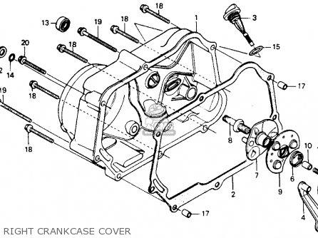 Honda Z50r 1991 m Usa Right Crankcase Cover