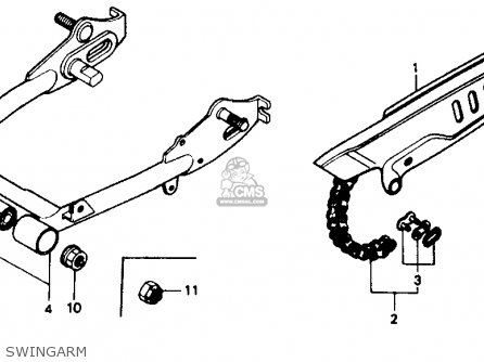 Honda Z50r 1991 m Usa Swingarm