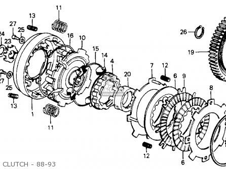 Honda Z50r 1991 Usa Clutch - 88-93