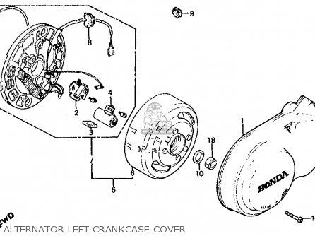 Honda Z50r Monkey 1979 z Usa Alternator Left Crankcase Cover