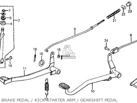 Honda Z50r Monkey 1979 z Usa Brake Pedal   Kick Starter Arm   Gearshift Pedal