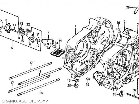 Honda Z50r Monkey 1979 z Usa Crankcase Oil Pump