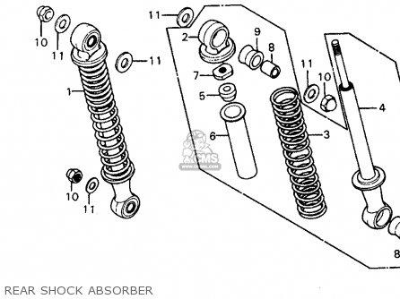 Honda Z50r Monkey 1979 z Usa Rear Shock Absorber