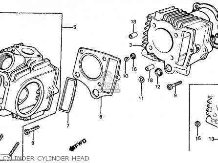 Honda Z50r Monkey  Gorilla 1979 z Usa Cylinder Cylinder Head