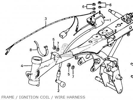 Honda Z50r Monkey  Gorilla 1979 z Usa Frame   Ignition Coil   Wire Harness