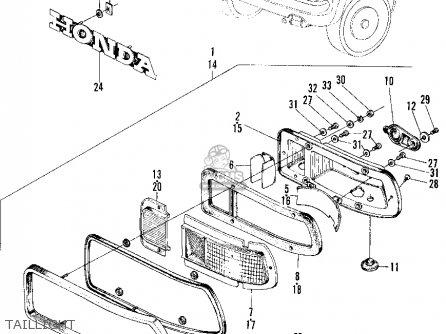 honda z600 coupe 1971 2dr  ka  parts list partsmanual
