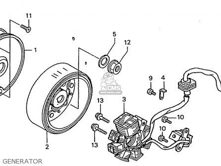 generator stator wiring diagram honda zn110y nice parts lists and schematics  honda zn110y nice parts lists and schematics