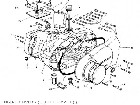 Kawasaki 1971 G3ss-a Engine Covers except G3ss-c