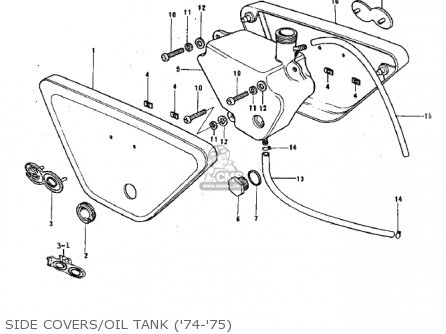 Kawasaki 1971 G3ss-a Side Covers oil Tank 74-75
