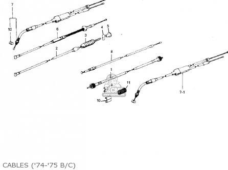 Kawasaki 1974 G5-b Cables 74-75 B c